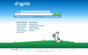 Dogpile - Image: Dogpiledotcom search website