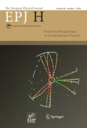 European Physical Journal H - Image: EPJ H cover