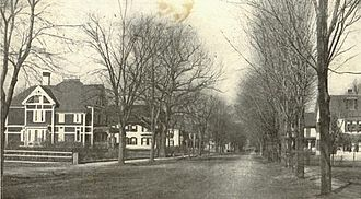 Ayer, Massachusetts - East Main Street circa 1906