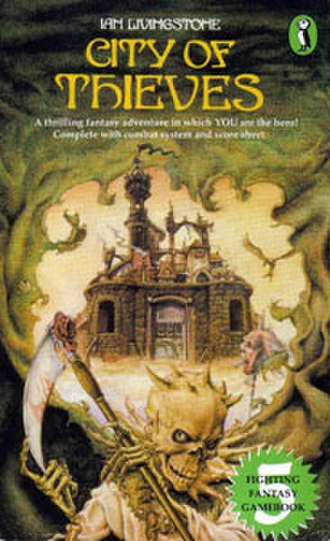 City of Thieves (gamebook) - Cover of the first edition, featuring art by Iain McCaig