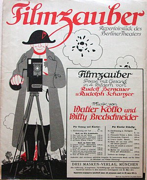 Filmzauber - Cover of the sheet music from Filmzauber arranged for voice and piano