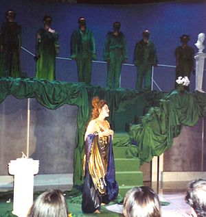 The Nightingale and the Rose (opera) - A scene from the opera The Nightingale and the Rose by Elena Firsova