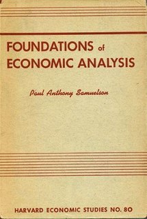 <i>Foundations of Economic Analysis</i> book by Paul A. Samuelson published in 1947