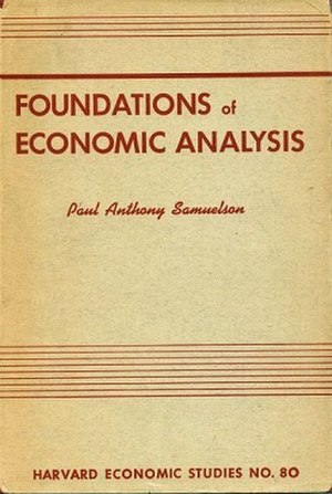 Foundations of Economic Analysis - First edition (1947)