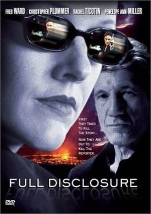 Full Disclosure (2001 film) - Full Disclosure DVD cover