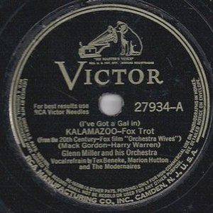 (I've Got a Gal In) Kalamazoo - RCA Victor 78 release, 27934-A.