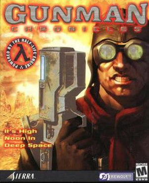 Gunman Chronicles - The US box art for Gunman Chronicles. European variations mimicked the style of Half-Life's box art.