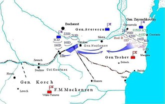 Third Army (Bulgaria) - The Romanian plan for the encirclement of the Bulgarian Third Army.