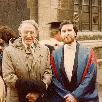 Lincoln Hurst - Hurst (r.) with the late G. B. Caird, Oxford, November, 1982.