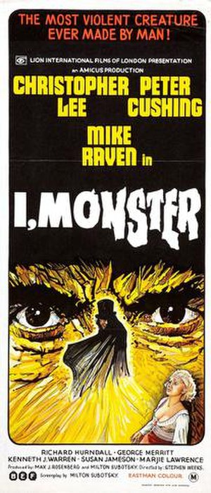 I, Monster - The DVD cover
