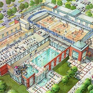 Indiana St Rec Center drawing