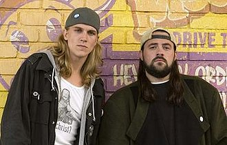 Jay and Silent Bob - Jason Mewes as Jay (left) and Kevin Smith as Silent Bob in Clerks II