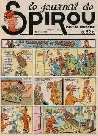 Spirou (magazine) - Spirou No. 1 (21 April 1938) Front cover by Rob-Vel.