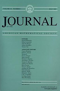 <i>Journal of the American Mathematical Society</i> Academic journal