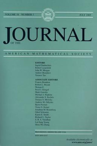 Journal of the American Mathematical Society - Image: Journal AMS