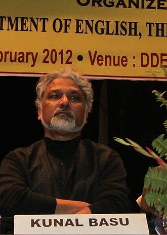 Kunal Basu - Image: Kunal Basu at an International Conference at the University of Burdwan