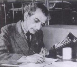 Cornelius Lanczos - Image: Lanczos Kornel photo in 1947