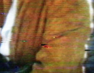 Disc rot - Video artifacts resulting from laser rot on a 1981 MCA Discovision pressing of The Electric Horseman.