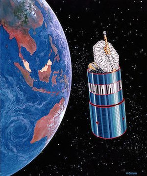 MEASAT Satellite Systems - Image of MEASAT-1 orbiting over Malaysia