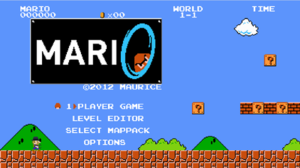 Fangame - Image: Mari 0 Title Screen