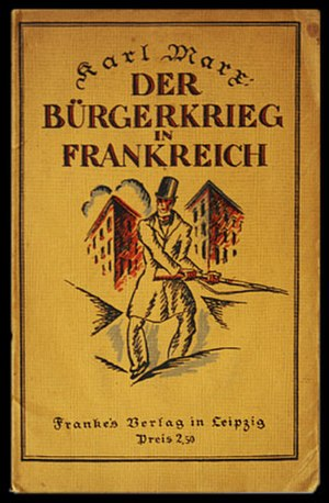 """The Civil War in France - 1922 German edition of """"The Civil War in France"""