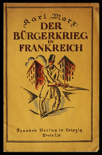 """The Civil War in France - 1922 German edition of """"The Civil War in France"""""""