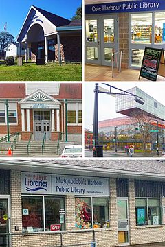 Montage of Halifax Public Libraries branches