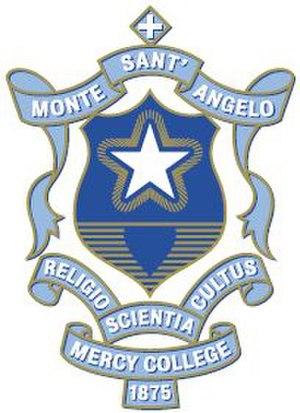 Monte Sant'Angelo Mercy College - Monte Sant' Angelo Mercy College crest. Source: www.monte.nsw.edu.au (Monte website)