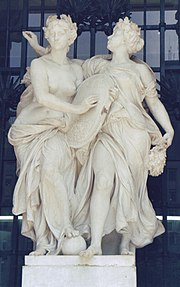 Melpomene and Polyhymnia, Palace of the Fine Arts, Mexico.