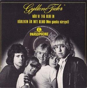 När vi två blir en - Image: När vi två blir en by Gyllene Tider Swedish vinyl