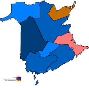 Politics of New Brunswick - Current federal electoral map