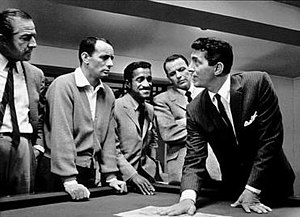Ocean's 11 - From left to right: Lester, Bishop, Davis, Sinatra, and Martin