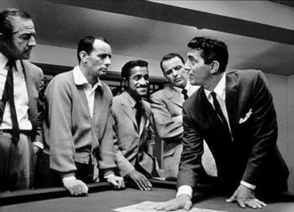 Joey Bishop - Ocean's Eleven with Buddy Lester, Bishop, Sammy Davis, Jr., Frank Sinatra, and Dean Martin