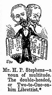 Henry Pottinger Stephens English dramatist and journalist