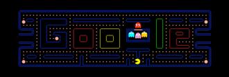 Google Doodle - Google's interactive Pac-Man logo