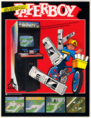 Paperboy (video game) - Image: Paperboy arcadeflyer