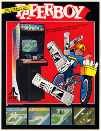 Paperboy (video game) - Image: Paperboy arcadeflyer