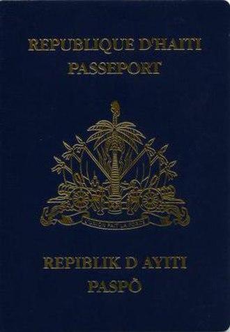 Haitian passport - Haitian passport front cover