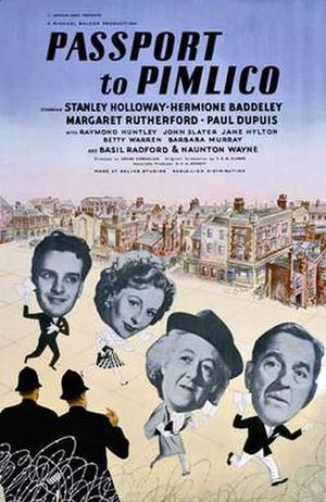 Passport to Pimlico - Original UK cinema poster