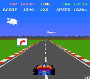 Pole Position (video game) - Gameplay of Pole Position.