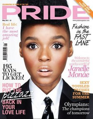 Pride Magazine - May 2011 issue featuring Janelle Monáe