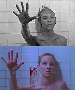 Psycho (1998 film) - The original (top) and the remake (bottom)