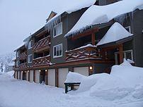 A row of vacation homes at Big White Ski Resor...