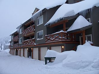 Vacation rental - A row of vacation homes at Big White Ski Resort in Canada