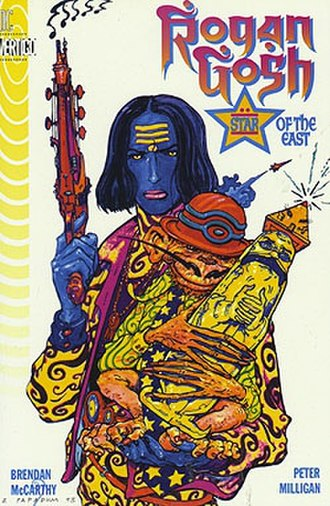 Rogan Gosh (comics) - Cover of the Rogan Gosh collected edition by Brendan McCarthy