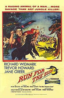 <i>Run for the Sun</i> 1956 film released by United Artists