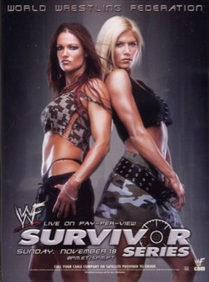 Survivor Series (2001) - Promotional poster featuring Lita and Torrie Wilson