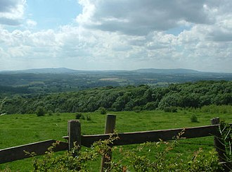Shatterford Hill - The view towards the Clee Hills from near the summit of Shatterford Hill
