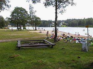 Sjömarken - Image: Sjömarkensbadet Beach