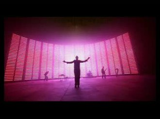 Speed of Sound (song) - The music video has a two-story-high LED display in the background